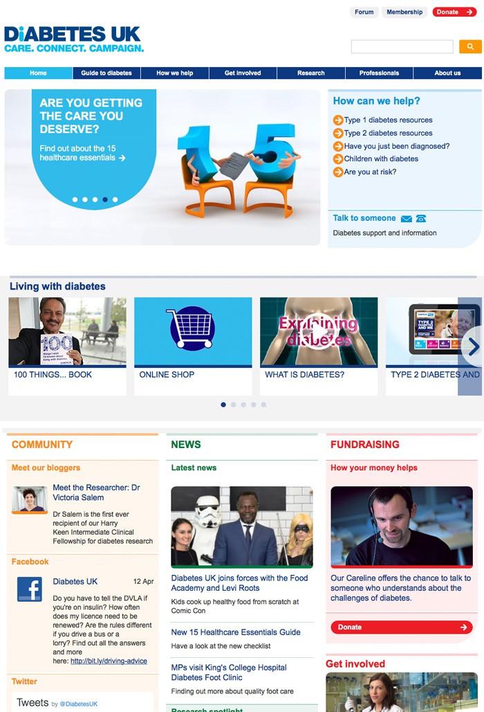 página de facebook del foro de diabetes uk