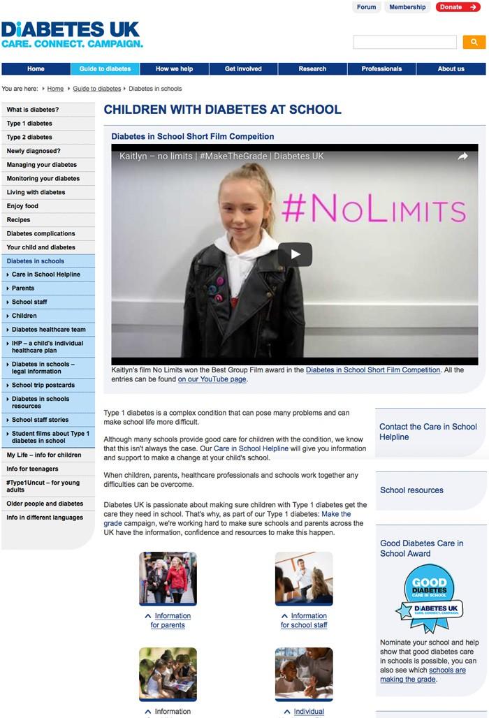 grupos de apoyo para diabetes uk en línea