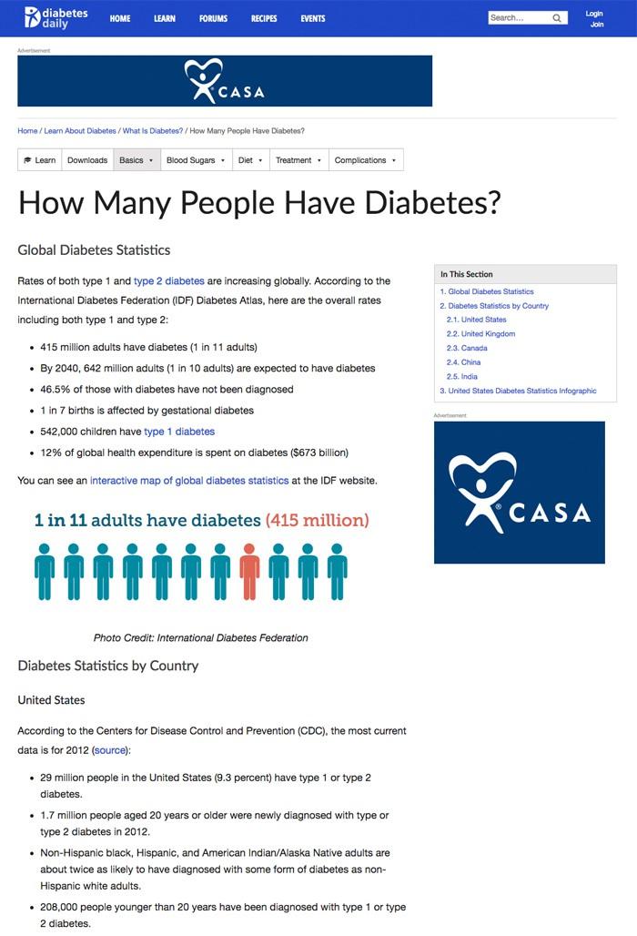 foro de diabetes tipo 1 canadá